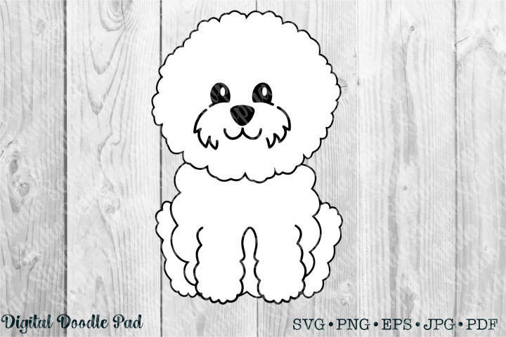 Cute Bichon 01 by Digital Doodle Pad