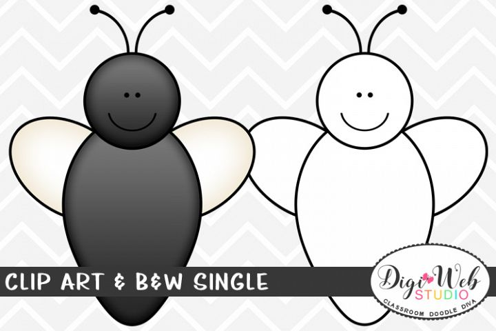 Clip Art & B&W Single - Housefly - Fly w/ Smiley Face