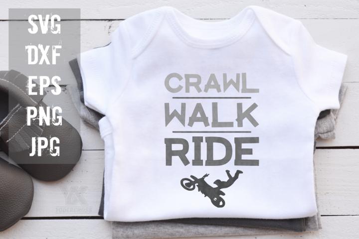 Dirtbike SVG, Crawl Walk Ride