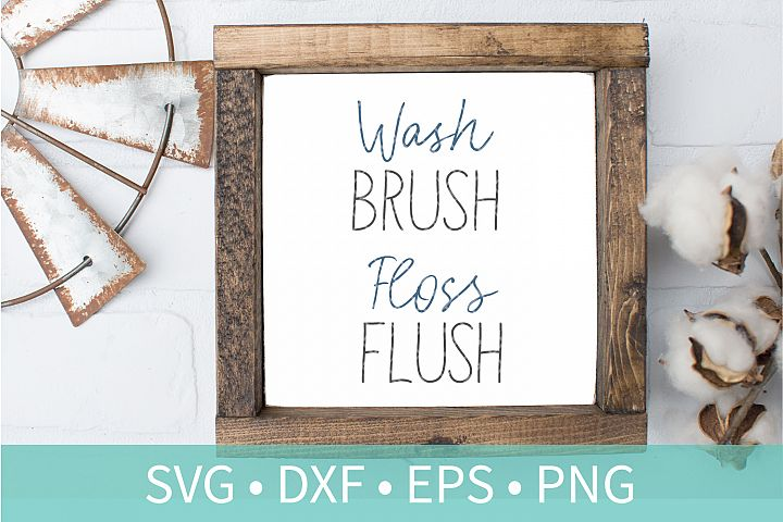 Wash Brush Floss Flush SVG DXF EPS PNG Clipart Cut File