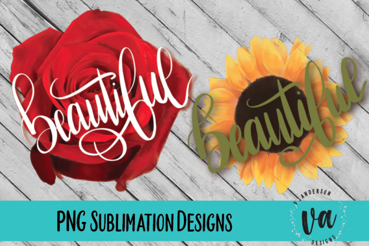 Beautiful Floral Sublimation PNGs