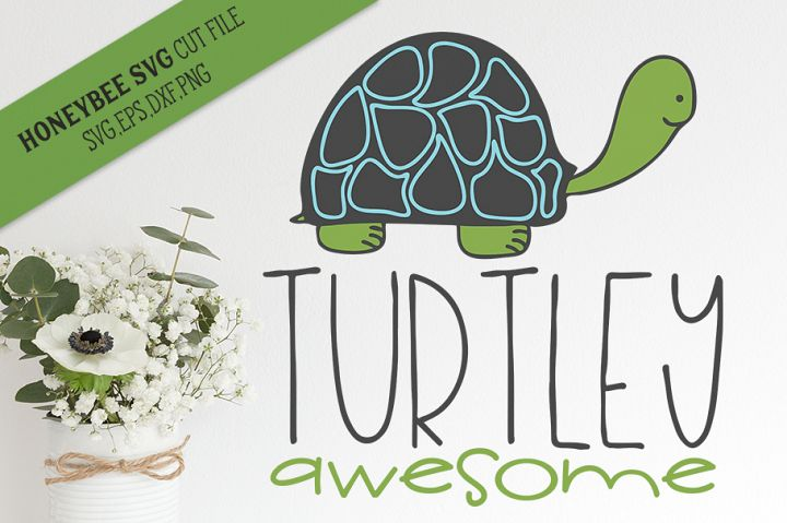 Turtley Awesome SVG Cut File