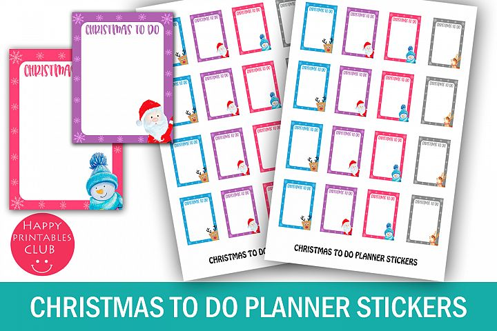 Christmas To Do Planner Stickers-Christmas Stickers