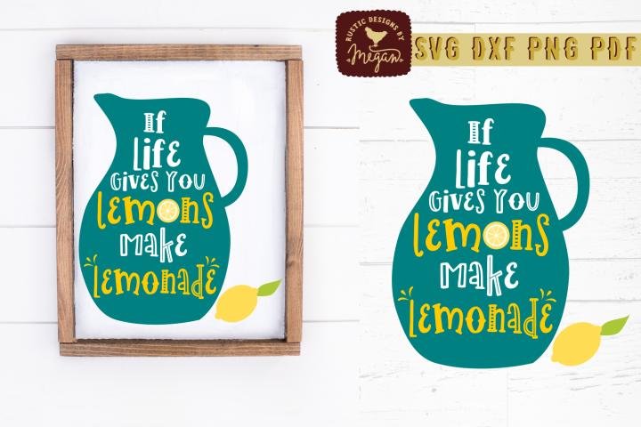 If Life Gives You Lemons Make Lemonade Summer Wood Sign SVG