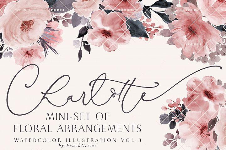 Charlotte // Mini Set of Floral Arrangements