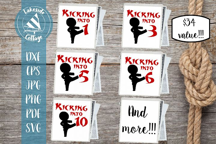 Kicking into Birthday Boy - Martial Arts Ages 1-10 SVG