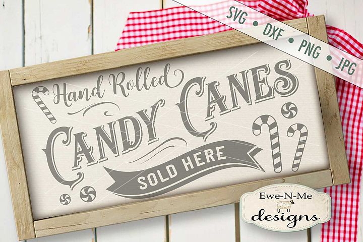 Hand Rolled Candy Canes Sold Here SVG DXF Files