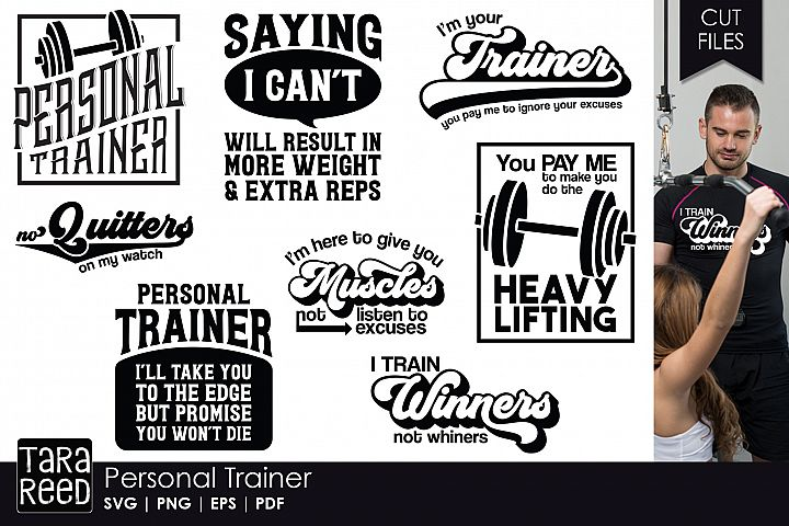 Personal Trainer - Fitness SVG & Cut Files for Crafters