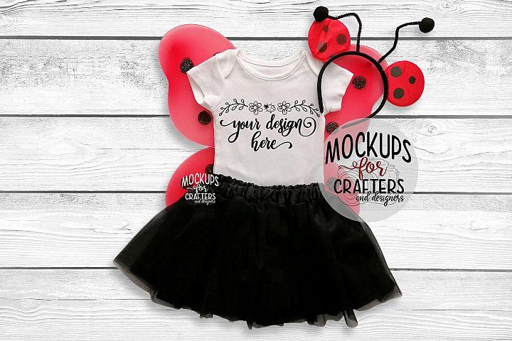 Baby Bodysuit, baby one piece - Ladybug theme