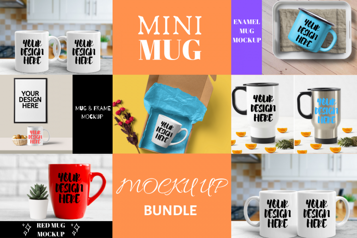 Mini Mug Mock Up Bundle - 7