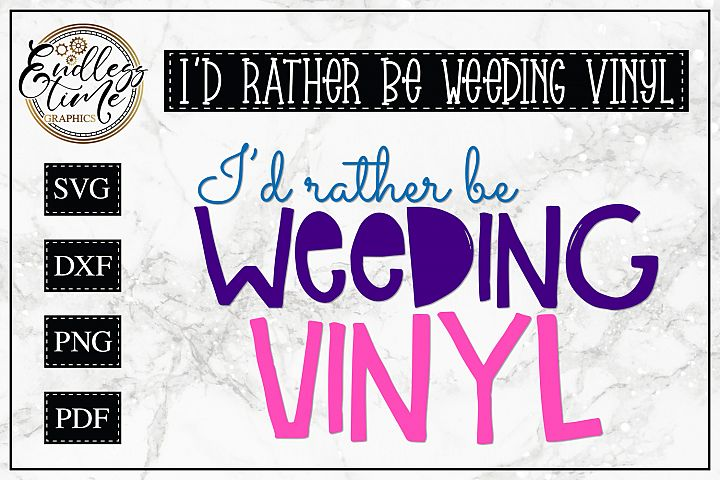 Id rather Be Wedding Vinyl - A Fun Little SVG Cut File
