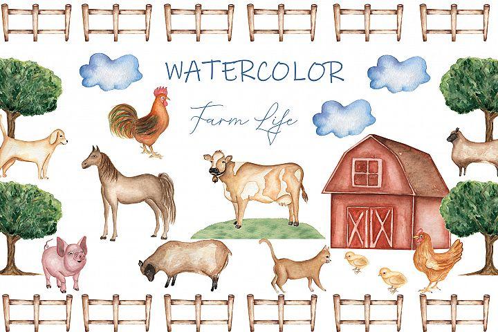 Watercolor Farm life