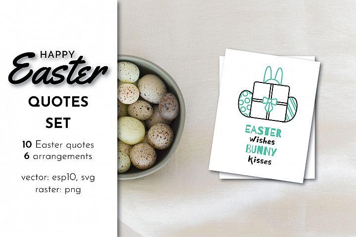 Happy Easter Quotes Bundle SVG