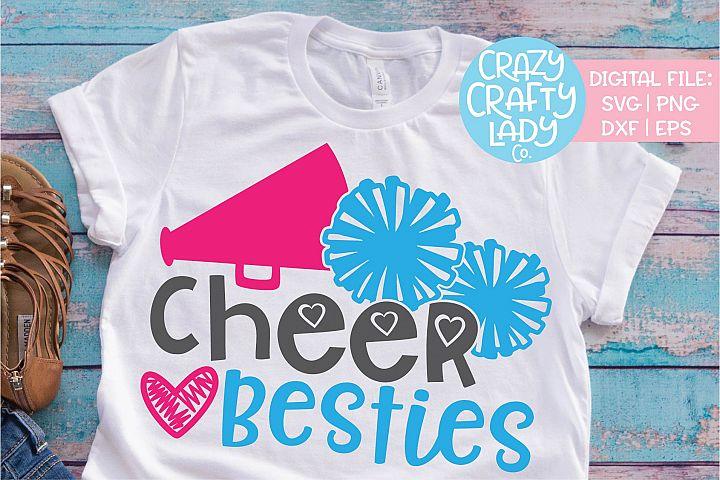 Cheer Besties Cheerleader Sports SVG DXF EPS PNG Cut File
