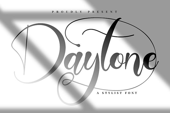 Daytone   Stylist Script Font