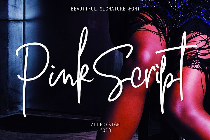Pink Script - Beautiful Signature Font