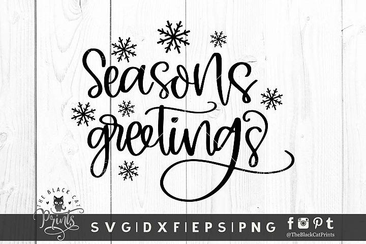 Seasons Greetings SVG DXF EPS PNG Christmas Winter Cut files