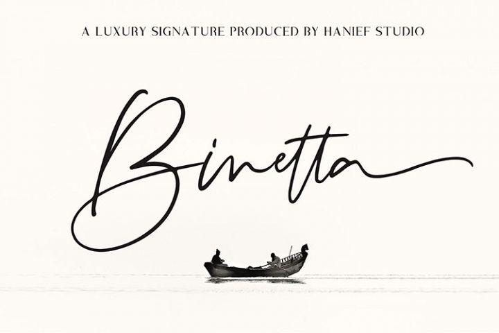 Binetta Signature//Modern Script