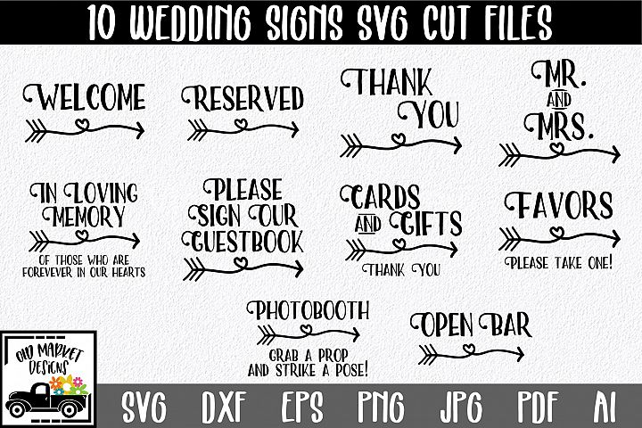 Wedding Signs SVG Cut Files