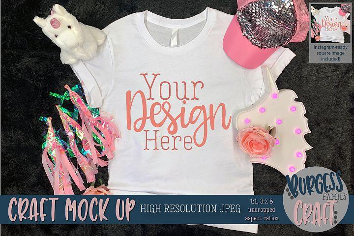 Pink explosion shirt Craft mock up | High Resolution JPEG