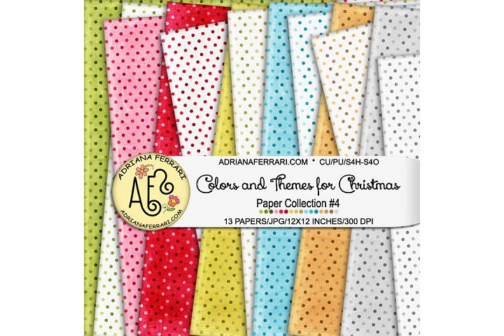 Colors and Themes for Christmas Papers 4