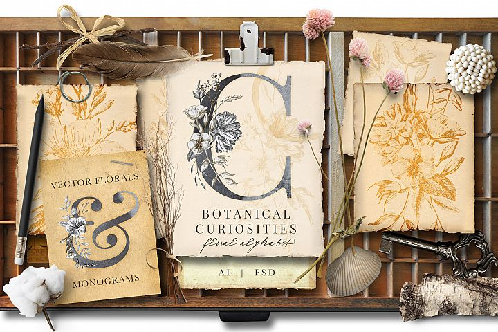 Botanical Curiosities Monogram Bundle