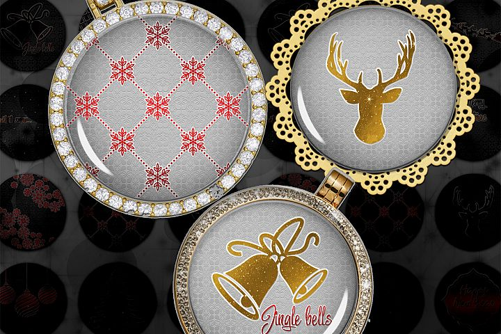 Golden Christmas,Images Digital,Christmas Circles,Printable