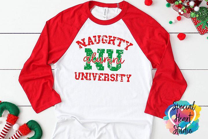 Naughty University Alumni - A Christmas SVG Cut File