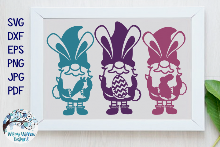 Easter Gnomes SVG | Easter Bunny Gnomes SVG File