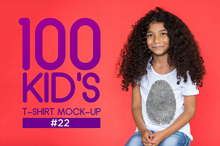 100 Kids T-Shirt Mock-Up 2018 #22