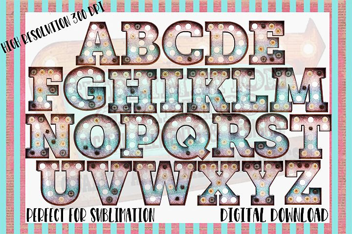 Mermaid Glitter Marquee Sublimation Digital Download