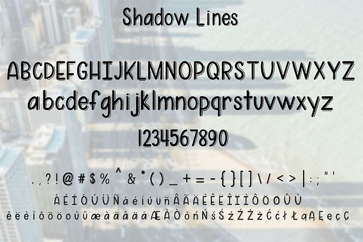 Shadow Lines - A fun font duo with and without shadow lines - Free Font of The Week Design 3