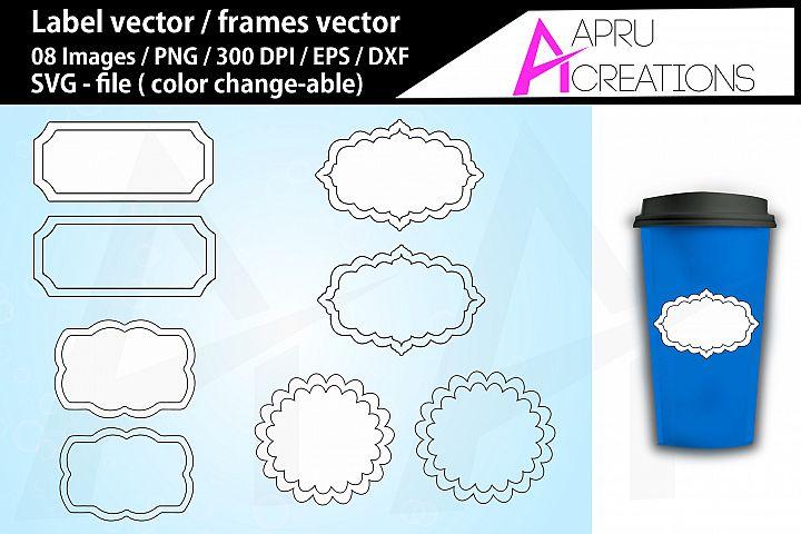 label svg / frames svg / vector labels / vector frames
