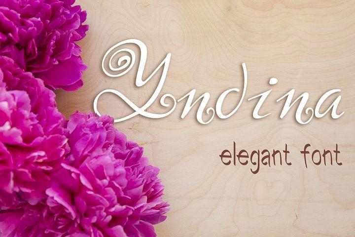 Yndina elegant font