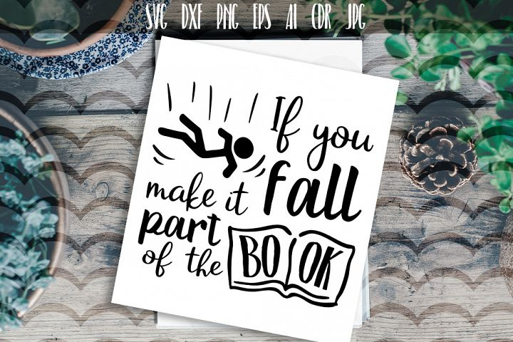 If you fall make it part of the book Vector typography
