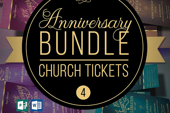 Church Anniversary Publisher Word Ticket Bundle