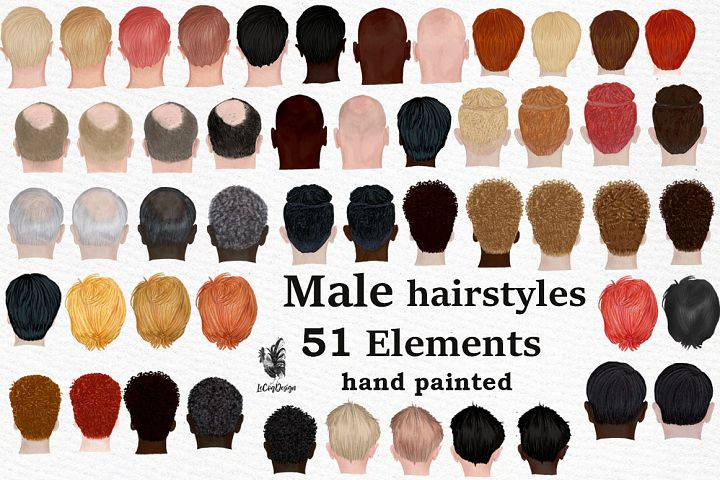 Male hairstyles clipart. Men hair clipat, Bald Man hairstyle