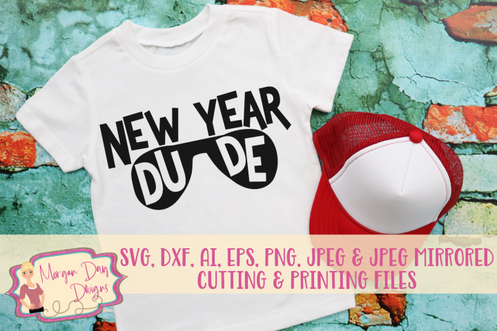 New Year Dude SVG, DXF, AI, EPS, PNG, JPEG
