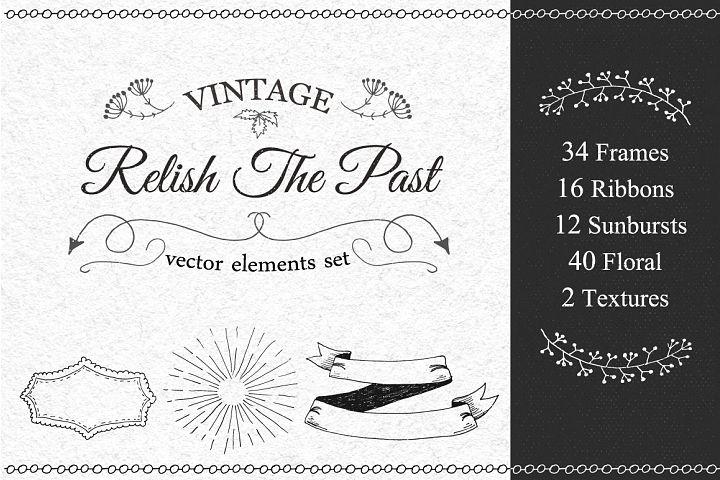 Vintage Vector Elements Set - Free Design of The Week Font