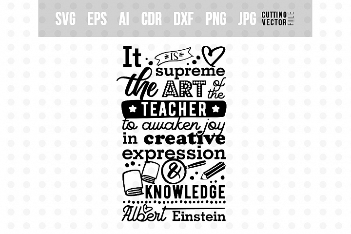 Art of the teacher - Einsteins Quote