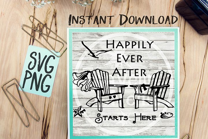 Happily Ever After Starts Here SVG