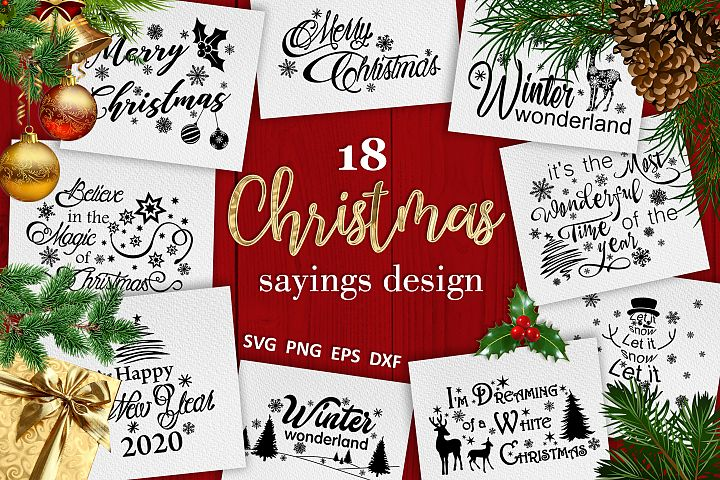 Christmas bundle svg Christmas sayings svg Winter svg
