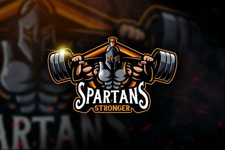 Spartans Stronger - Mascot & Esport Logo