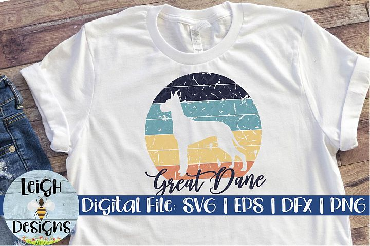 Great Dane Distressed SVG
