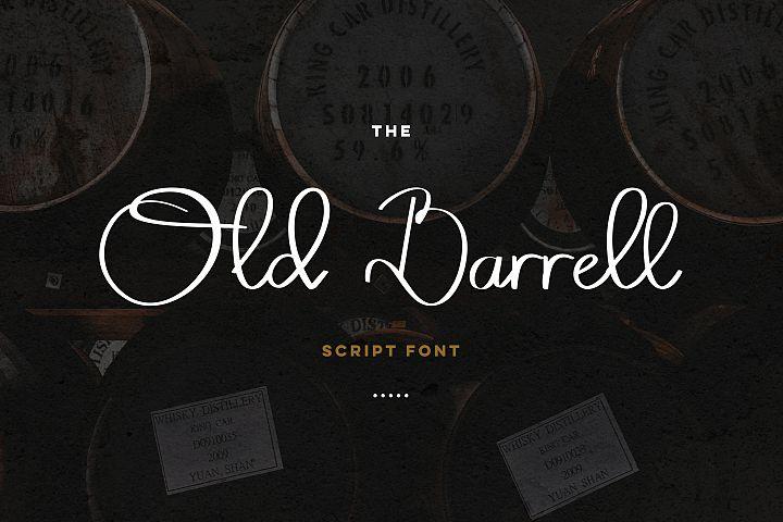 Old Barrell script font