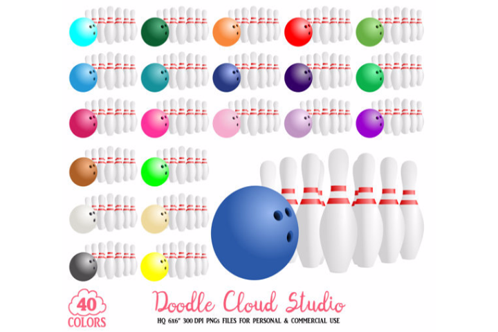 40 Colorful Bowling Clipart Sport Planner Stickers Bowling Pins Clip Art Png With Transparent Background For Personal Commercial Use 57519 Printables Design Bundles
