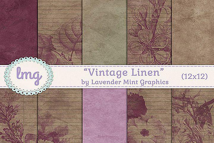 Vintage Linen Digital Papers