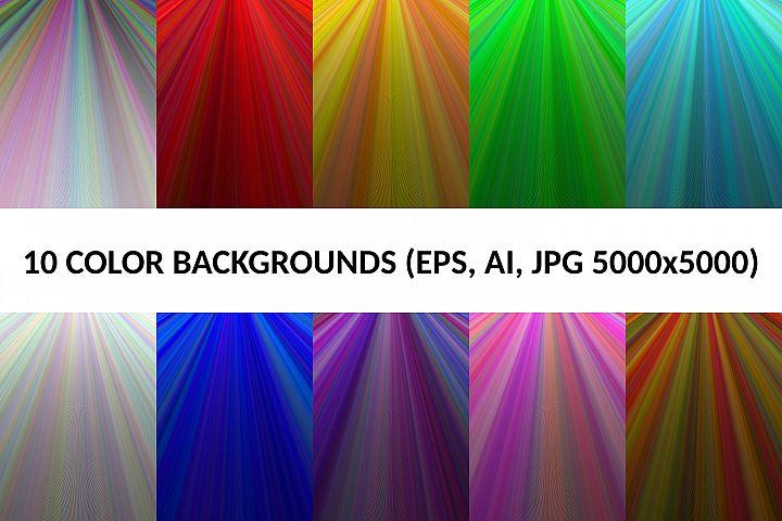 10 Color Backgrounds (AI, EPS, JPG 5000x5000)