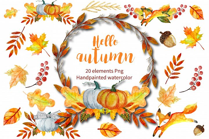 Autumn Clipart Watercolor