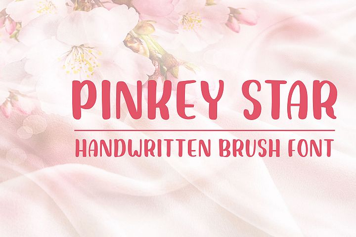 Pinkey Star - Handwritten Brush Font